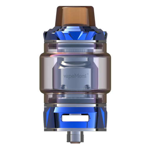 VapeMons Monster Mesh Pro tank atomizer kanthal triple mesh coil system 0.15ohm 120W compatible with FreeMax coil iridescent glass tube blue coi tech